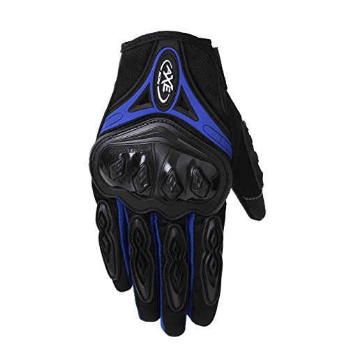 Onway Motorcycle Mountain Cycling Gloves Road Racing Gloves Full Fingers Cycling Gloves Men Outdoor Ski Snowboard Sports Gloves With Touching Screen Fingers, Black Blue Red