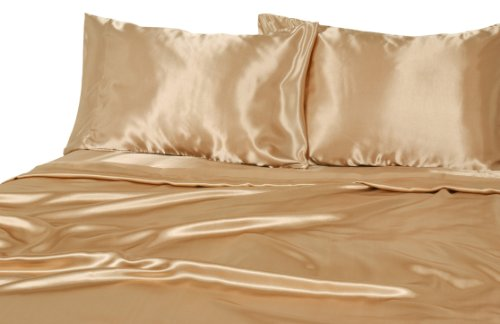 Elite Home Products Luxury Satin 100% Poly Solid Sheet Sets