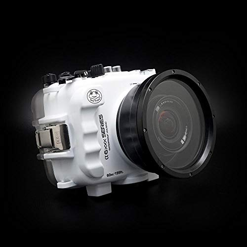 SeaFrogs 60M/195FT Waterproof housing A6xxx series Salted Line (White) For Sony a6500 a6400 a6300