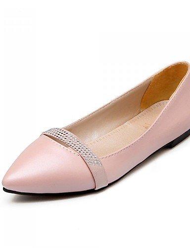 PDX/ Damenschuhe - Ballerinas - Büro / Kleid / Lässig - Kunstleder - Niedriger Absatz - Spitzschuh - Schwarz / Rosa / Lila / Beige , pink-us5 / eu35 / uk3 / cn34 , pink-us5 / eu35 / uk3 / cn34