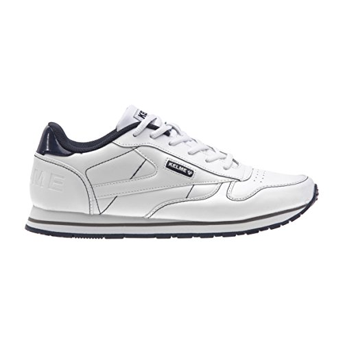 Kelme Unisex Adults' 52186 Low-Top Sneakers Multicolour (Blanco / Marino) nhiSe1qs