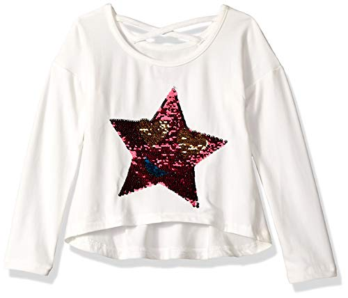 Colette Lilly Girls' Little Long Sleeve Sequin Tee,