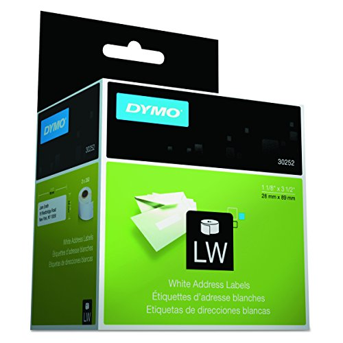 Dymo 30252 LabelWriter LW Adhesive White Mailing Address Labels 1 1/8