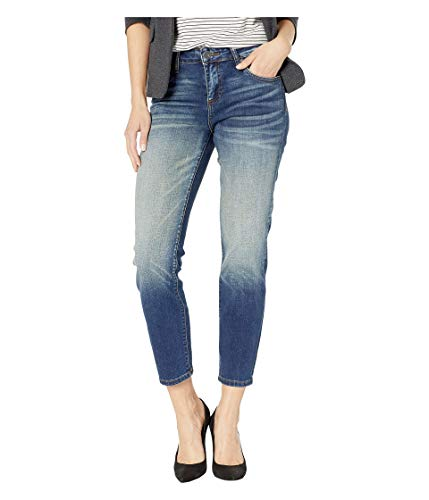 KUT from the Kloth Catherine Ankle Straight Leg Jeans in Loudly w/Dark Stone Base Wash Loudly w/Dark Stone Base Wash 2