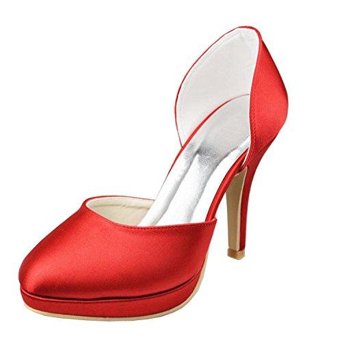 talon Minitoo Chaussures Girls mariée fermé Womens Bout rouge nuptiale de Chaussures Platform Soirée wPdqwrv