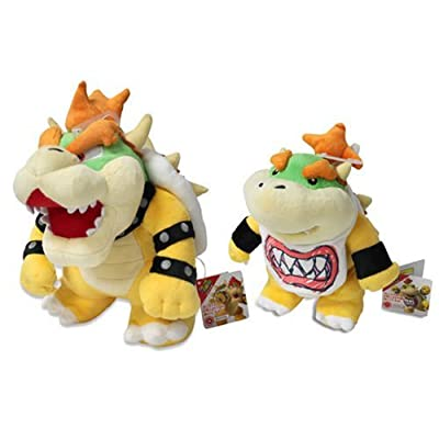 Bowser & Bowser Jr. Plush (Set of 2) Sanei Super Mario All Star Collection: Toys & Games