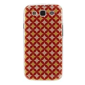 Modelo rojo y amarillo de la cubierta del estuche duro de protección de plástico para el Samsung Galaxy S3 I9300