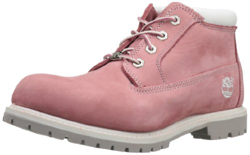 Timberland Women's Nellie Double WP Ankle Boot,Pink,9 M US