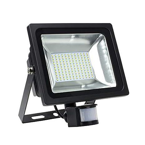 Foco Proyector LED SMD con Detector de Movimiento PIR 50W 120lm/W efectoLED
