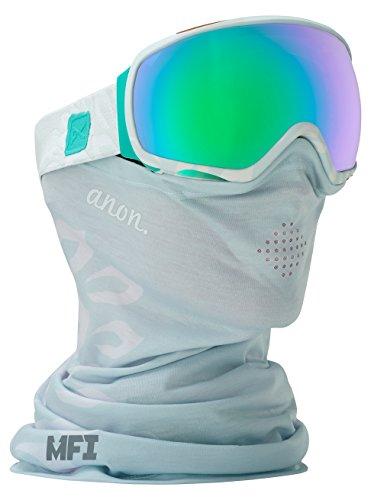 Anon Tempest MFI Goggle, Empress White/Green Solex - Anon Goggles White