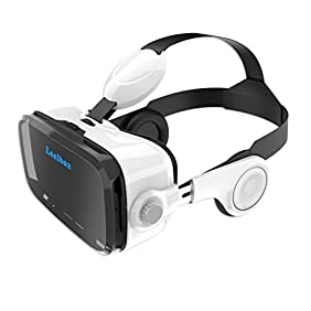 3D VR Glasses Headset Google Cardboard 120° degree Viewing Immersive Virtual Reality 3D Movies Video Games, Games Glasses VR Headset