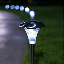 PowerLead LED Garden Path Stake Lights Solar Pathway Light,Perfect for Yard Landscape Home Garden Lawn