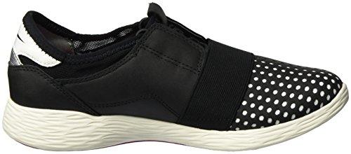 Low Women''s 005 Schwarz 23722 top white black Tamaris Sneakers gEwCpdCx