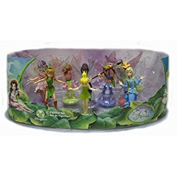 Disney Fairies Figurine Set Of 8 With Tinkerbell