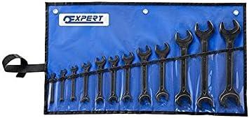 EXPERT E114040 - Juego de 12 llaves fijas din estuche vinilo: Amazon.es: Bricolaje y herramientas