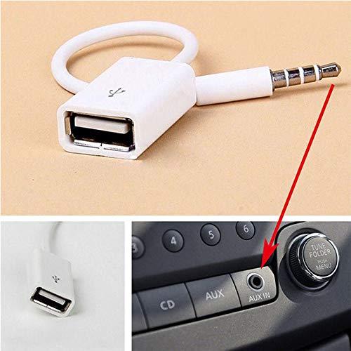 Smartphone hallenwerk USB-Klinke Audio Adapter Kabel 3,5mm Klinke Stecker auf USB A Stecker MP3 f/ür Autoradio USB Sticks und Weitere