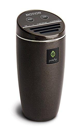 pureAir MOTION Advanced Car Air Purifier by GreenTech (Black Pearl Finish)