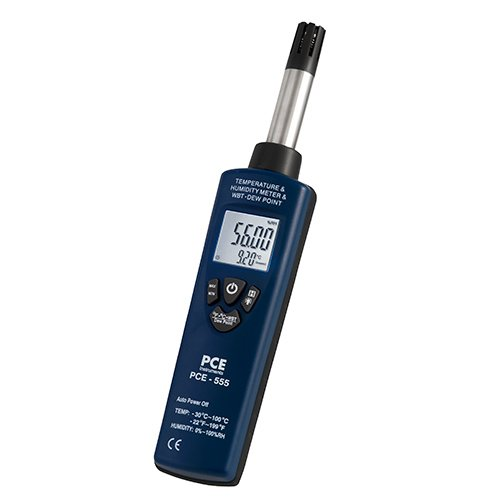 (PCE Instruments Hygrometer PCE-555 measures humidity, temperature, dew)