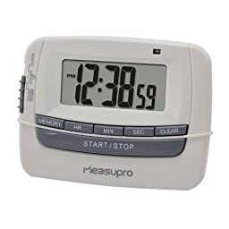 MeasuPro Digital Clock, Timer, and Stopwatch with Three Alert Type Settings - Buzz, Beep, and LED