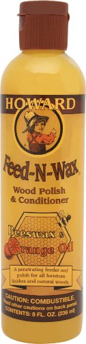 Howard FW0008 Feed-N-Wax Wood Polish and Conditioner, 8-Ounce