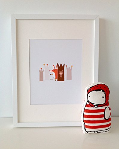 Paolo The Fox 1 // FOX Print // Fox Wall Art // Woodland Baby Nursery Decor