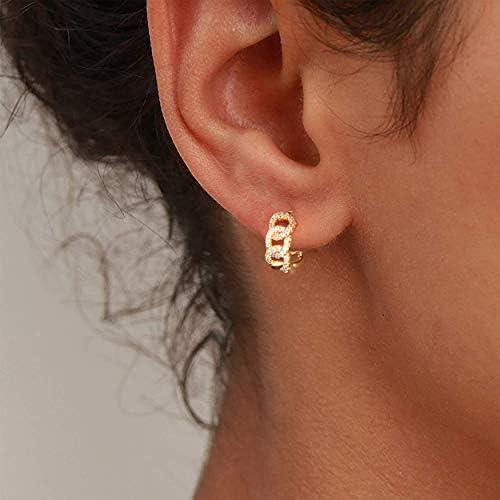 NE/_ EG/_ Women/'s Elegant CZ Small Hoop Huggie Earrings Party Jewelry Charm Gift