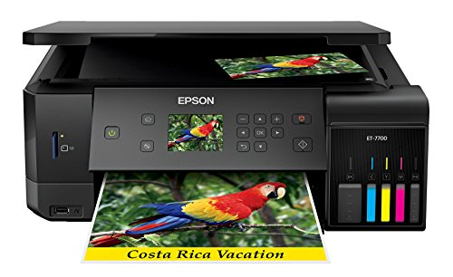 5 Color Printer (Epson Expression Premium ET-7700 EcoTank Wireless 5-Color All-in-One Supertank Printer with Scanner, Copier and Ethernet)
