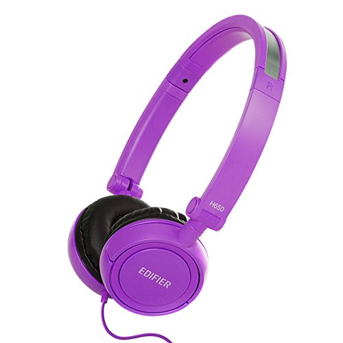Edifier H650 Hi-Fi On-Ear Headphones – Noise-isolating Foldable and Lightweight Headphone – Fit Adults and Kids – Purple / Violet