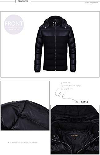 Lined Large X Winter Jacket Black Padded Small Brinny Winter Coat Hooded Large XX Medium Parka Parker Large qwtw7PpS