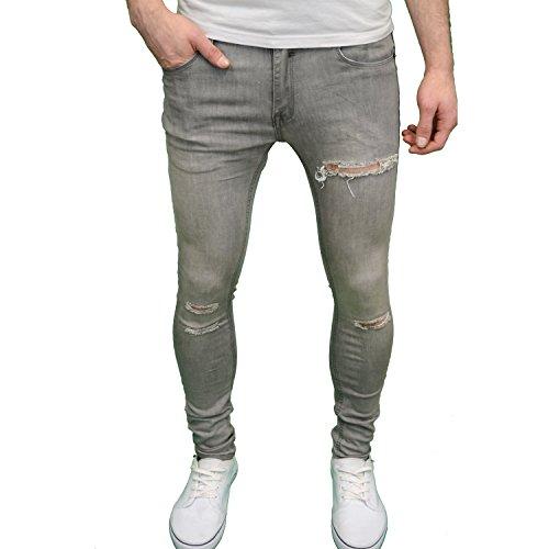 Ripped Fit Soul Funda Star elástico Hombre Jeans para Super Skinny de wqHCwgP