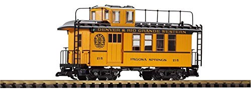 Piko G Scale Train D&RGW Drovers Caboose 215 Yellow 38602 by - Drovers Caboose