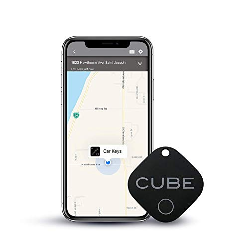 Cube Key Finder Smart Tracker Bluetooth Tracker for Dogs, Kids, Cats, Luggage, Wallet, with app for Phone, Replaceable…