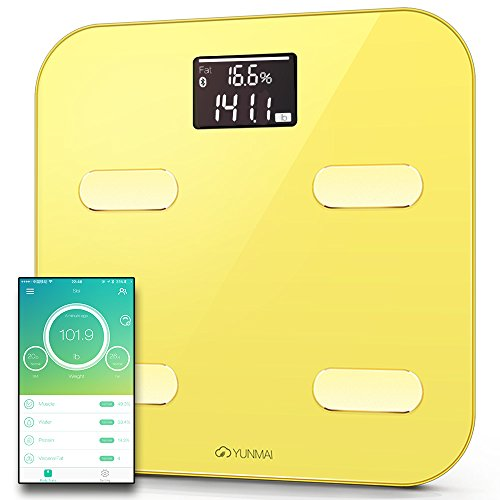 Yunmai Color Smart Scale - U.S. Exclusive Version - Body Fat Scale with Fitness APP & Body Composition Monitor with Extra Large Display