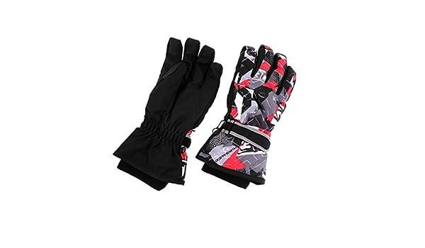 Amazon.com : eDealMax adultos de Los niños de invierno deportes al aire Libre Snowboard guantes térmicos Par : Sports & Outdoors