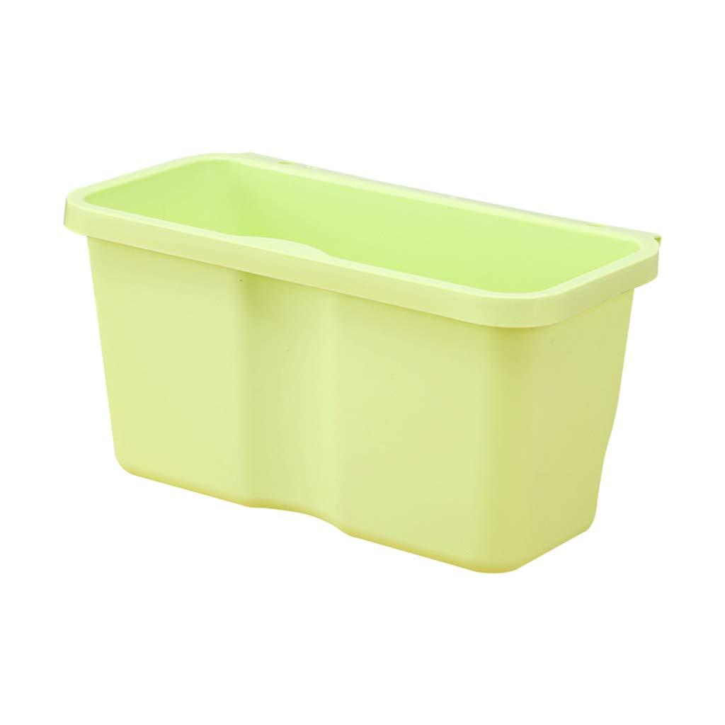 CSQ Hanging Type Trash Can, Plastic Storage Bin, Kitchen Washroom Bedroom Bedside Trash Can Indoor