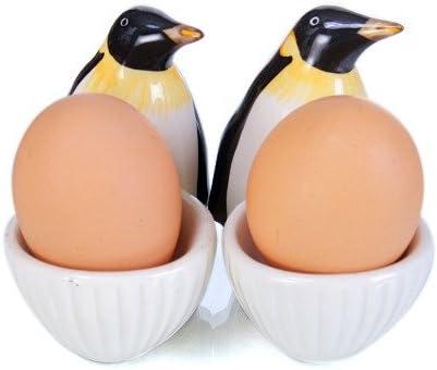 Pingouins Pingouin Coquetier Set De Coquetiers Modele Pingouin Lot De 2 Design Exclusif Amazon Fr Cuisine Maison