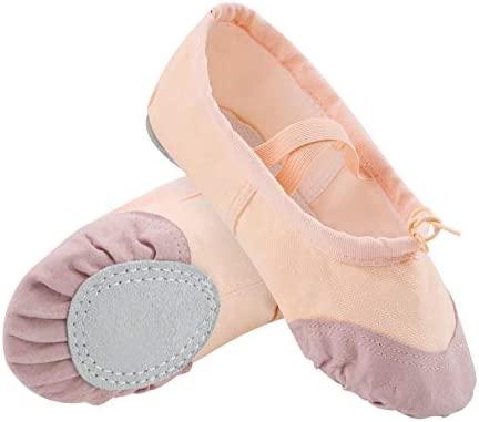 AYPOW Zapatillas de Ballet para Mujer Zapatillas de Baile Zapatillas de Yoga Zapatillas de Pilates Zapatillas de Lona con Suela Dividida Plantas ...
