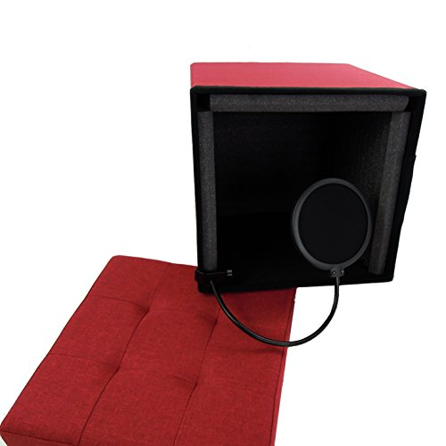 Vocal Booth Portable Recording Studio Acoustic Isolation Shield Perfect for Classroom Chromebooks, YouTube, Video Game Voiceover, Podcast Microphone USB Desktop Classroom or Business Training Video - Voice Over Package