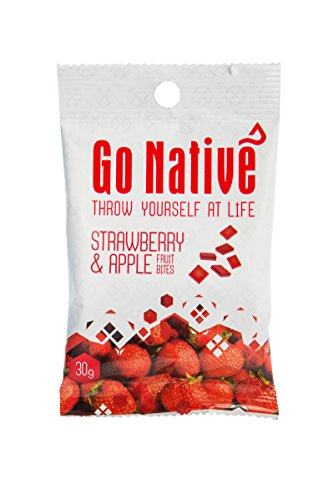 Go Native Fruit Snack Bites 30g (Pack of 15) Natural Ingredients - Nutrient Rich - Slow Release Energy for 2 Hrs - Olympians, Adventurers, Health Hunters & School Children.