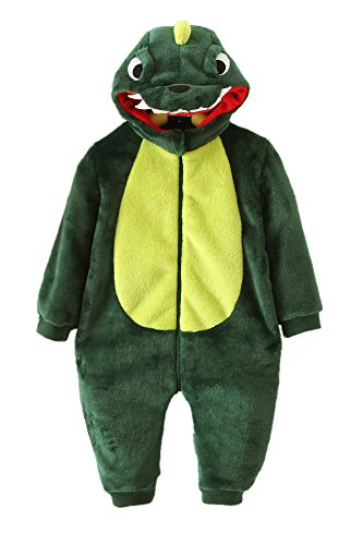 Qzerplay Baby Girls Boys Funny Dinosaur Halloween Costumes Pajamas 80cm -