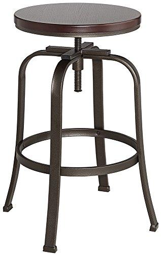Radin Hammered Bronze Adjustable Height Swivel Bar (Stool Single)