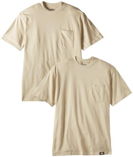 Dickies Men's Short Sleeve Pocket T-Shirts Two-Pack, Desert