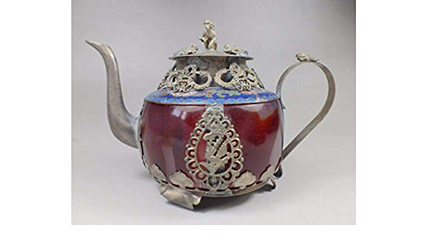 Details about  /Chinese Handwork Green /& Red Jade Bracelet Inlay Tibet-silver Dragon Teapot