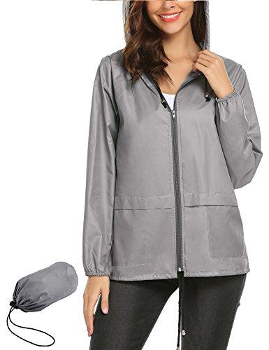 LOMON Lightweight Rainwear,Waterproof Active Outdoor Cycling Hiking Rain Jacket Hiking Lightweight Hooded Waterproof Jacket XL by LOMON