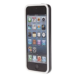 TPU Solid Color Bumper Frame for iPhone 5/5S (Optional Colors) --- COLOR:White