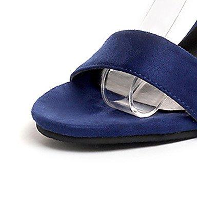 Básico Talón Ante Verano Pu Y Blue Lvyuan ggx Tacón Paseo Pump Azul12 Mujer Cms De Hebilla Tacones Negro Noche Fiesta Stiletto Vestido Bloque xqWISaf