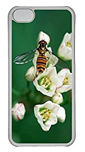iPhone 5C Case Hornets pick flowers PC iPhone 5C Case Cover Transparent
