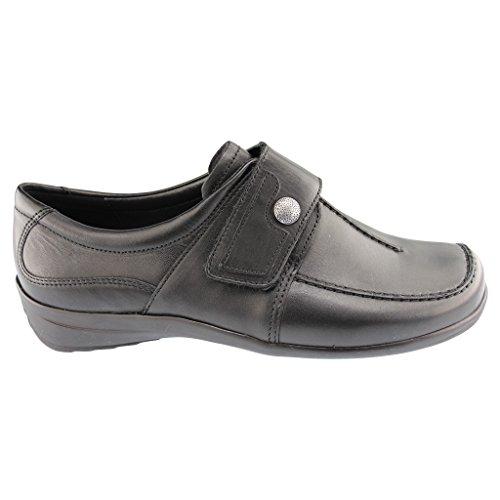 Ara 12-46358 Meran mujer zapatillas de casa ancho H negro