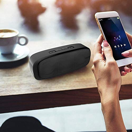 LENRUE Bluetooth Speaker, Wireless Portable Speaker with Loud Stereo Sound, Rich Bass, 12-Hour Playtime, Built-in Mic. Perfect for iPhone, Samsung and More 41 UgfnHyYL