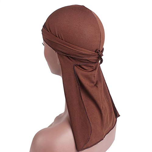 Hiphop Cap Beauty Town Hip-Hop Bandana Turban Cap Lacing Bandanas Wigs King's Durag Biker Headwrap -